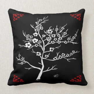 Japanese Paper Cutting Cherry Tree Pillow