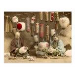 Japanese Paper Lantern Makers, Vintage Photo Postcard