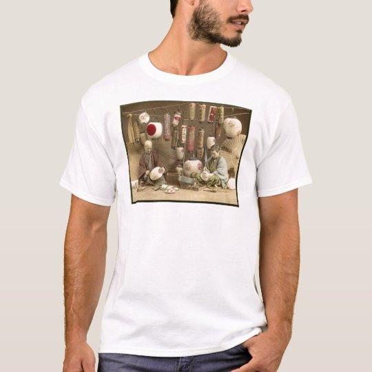 Japanese Paper Lantern Makers, Vintage Photo T-Shirt