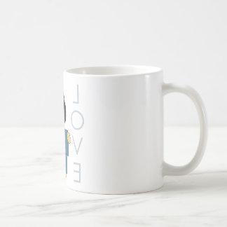 Japanese Paperdoll - Teal Coffee Mugs