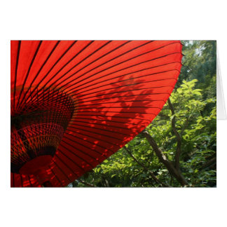 Japanese Parasol Card