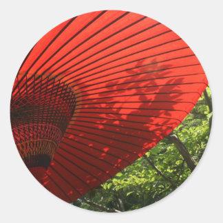 Japanese Parasol Classic Round Sticker