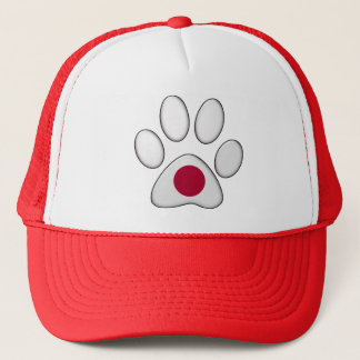 Japanese patriotic cat trucker hat