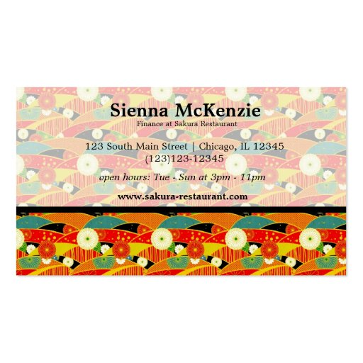Japanese pattern business card template