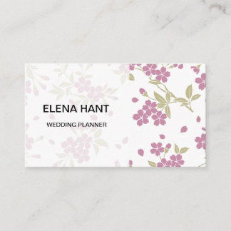 Japanese Pattern cherry blossom pattern Business Card
