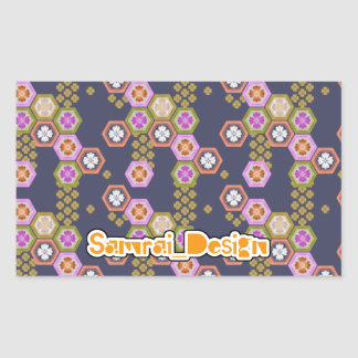 Japanese Pattern Rectangular Sticker