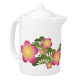 japanese pattern teapot