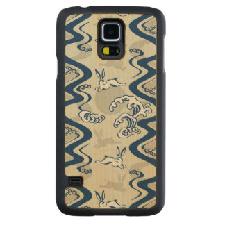Japanese pattern with moon rabbits carved® maple galaxy s5 slim case