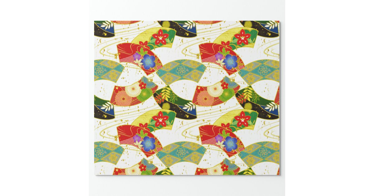 Japanese pattern wrapping paper zazzle for Japanese wrapping