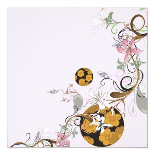 Japanese patterns Invitation