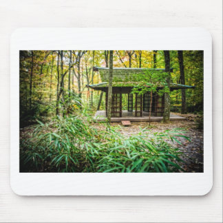 Japanese Pavilion in the Forest Mouse Pad