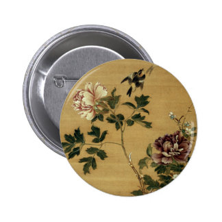 JAPANESE PEONIES ART button