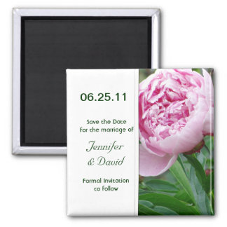 Japanese Peony Save the Date Magnet