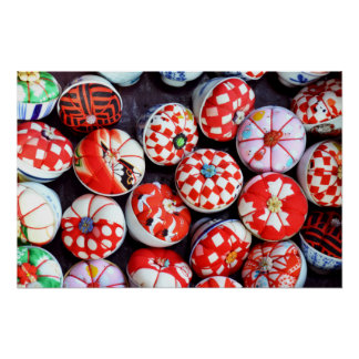 Japanese Pin Cushions Poster