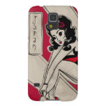 Japanese Pin Up on Heels Galaxy S5 Covers