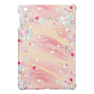 Japanese pink cherry blossoms iPad mini cases
