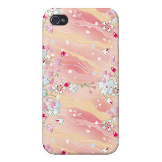 Japanese pink cherry blossoms iPhone 4 case