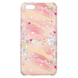 Japanese pink cherry blossoms iPhone 5C case