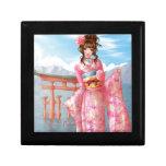 Japanese pink kimono caja de regalo