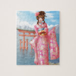 Japanese pink kimono rompecabeza