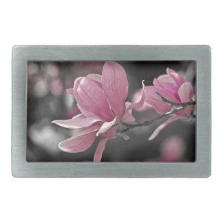Japanese Pink Saucer Magnolia Belt Buckle