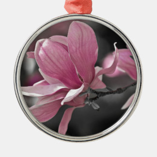 Japanese Pink Saucer Magnolia Metal Ornament