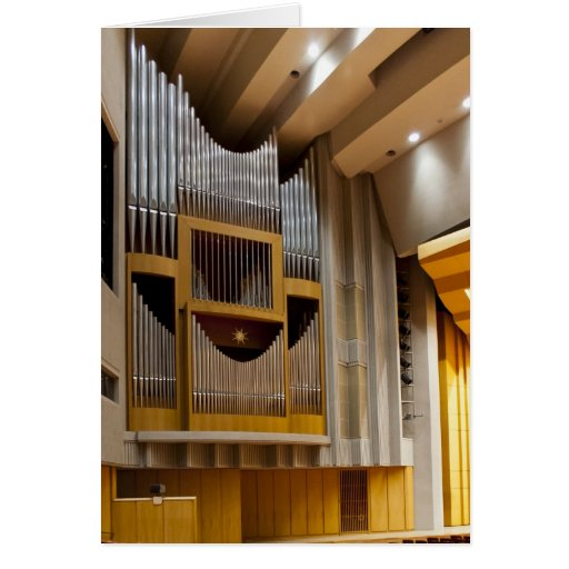 Japanese pipe organ stationery note card