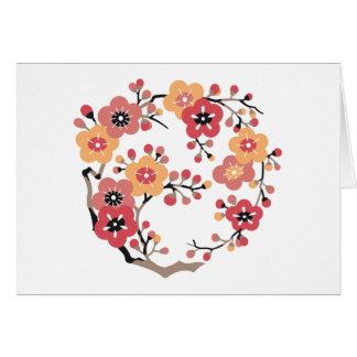Japanese Plum blossoms Circle Card