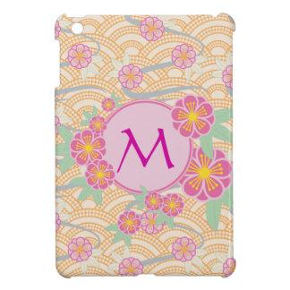 Japanese Plum Blossoms Ume Pink Orange Seigaiha Cover For The iPad Mini