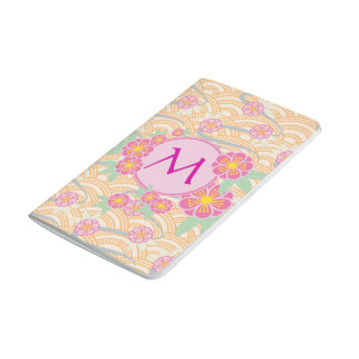 Japanese Plum Blossoms Ume Pink Orange Seigaiha Journal