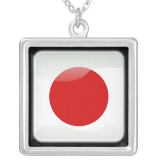 Japanese polished silver plated necklace