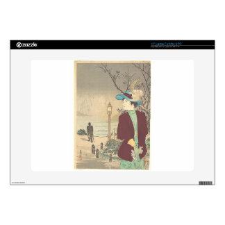 "Japanese Polychrome woodblock print 15"" Laptop Decals"