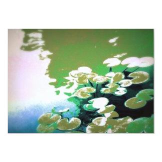 """Japanese pond 5"""" x 7"""" invitation card"""