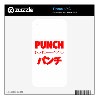 Japanese Punch Emoticons Decal For iPhone 4