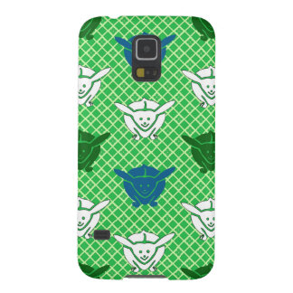 Japanese rabbit print, green, blue and white case for galaxy s5