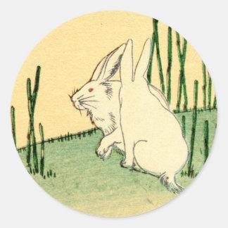 Japanese Rabbits no.2 Classic Round Sticker