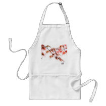 Japanese Red Maple Art Photography Adult Apron