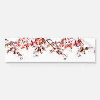 Japanese Red Maple Art Photography Bumper Sticker