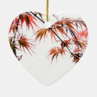 Japanese Red Maple Art Photography Ceramic Ornament