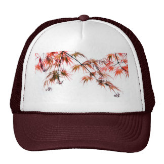 Japanese Red Maple Art Photography Mesh Hat