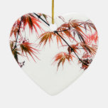 Japanese Red Maple Art Photography Christmas Tree Ornament