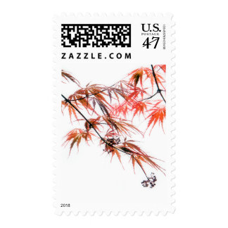 Japanese Red Maple Art Photography Postage