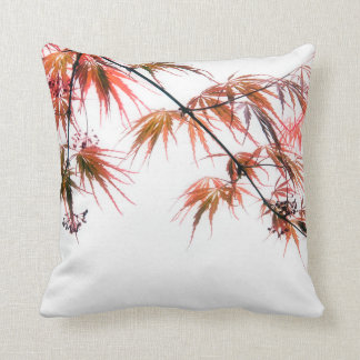 Japanese Red Maple Art Photography Throw Pillow