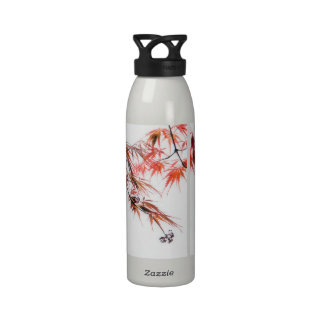 Japanese Red Maple Art Photography Drinking Bottles