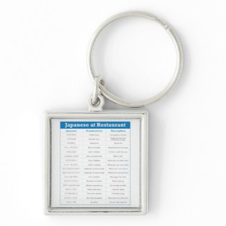 Japanese Restaurant Chart Keychains