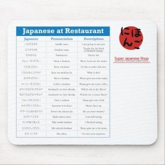 Japanese Restaurant Chart Mousepad