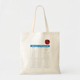 Japanese Restaurant Chart Tote Bags