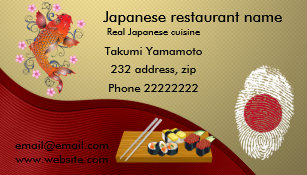 Restaurant business cards zazzle japanese restaurant magnetic business card colourmoves