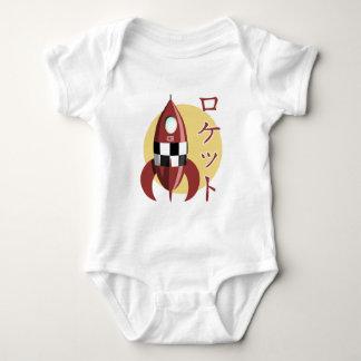 Japanese Retro Rocket Baby Bodysuit