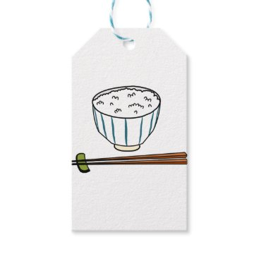 gridly Japanese Rice Bowl Gift Tags